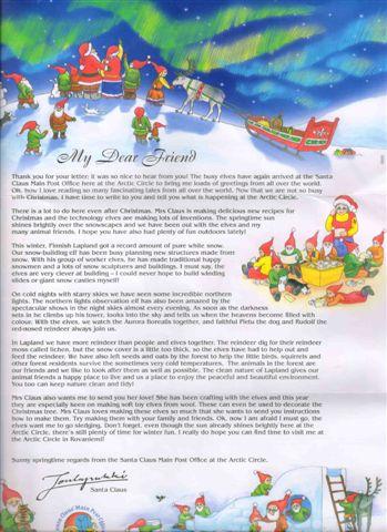 Ответ Деда Мороза в Atlasnet:)