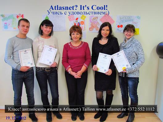 English in Tallinn. Atlasnet!